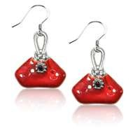 French Purse Charm Earrings in Silver
