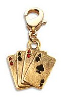 Aces Charm Dangle in Gold