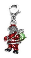 Santa Claus Charm Dangle in Silver