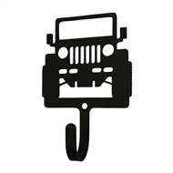 Off-Road 4x4 Vehicle Black Metal Wall Hook -Small