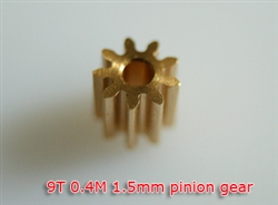 1.5mm Pinion gear 0.4M 9T for 130X