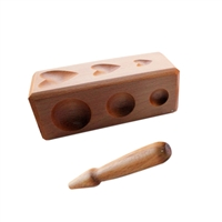 WOOD SHAPING BLOCK   Mix Shapes Depressions