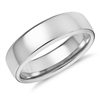 Honey Modern Comfort Fit Wedding Ring in Platinum or Gold 6mm