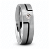 0.08 TCW Fancy Round Diamond Wedding Ring in White Gold 6 mm Satin Finish