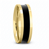 Fancy Carved Wedding Ring in Yellow Gold 6.5 mm High Polished Finish