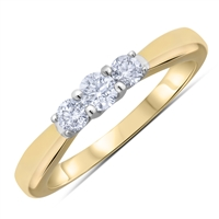 Round Brilliant Cut  Diamond Engagement Ring in 14k Yellow Gold 0.33 ct. tw.