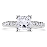 Princess Cut Diamond Engagement Ring  in 14k White Gold 1.14 ct. tw.