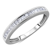 Channel Invisible Set Matching Princess Cut Diamond Band Anniversary Ring in White Gold 14K 0.64 ct. tw.