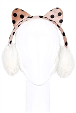 A Dozen Assorted Color Cat Ear Soft Fur Earmuffs