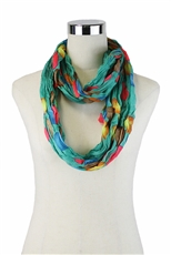 DZ Pack Assorted Color Dot Print Infinity Scarves