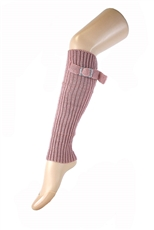 DZ Pack Assorted Color Belt Buckle Accent Knit Leg Warmers