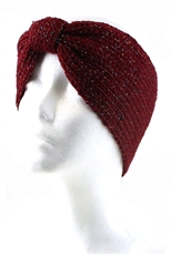 Dozen Assorted Color Glitter Accent Knitted Elastic Headwrap