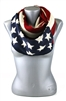 DZ Pack American Flag Knitted Infinity Scarves