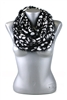 DZ Pack Black and White Leopard Knitted Infinity Scarves