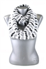 DZ Pack Black and White Chevron Knitted Infinity Scarves