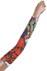 A Dozen Assorted Colorful Tattoos Arm Wrap