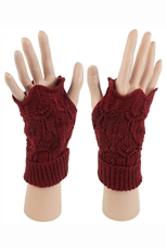 Dz Pack Assorted Color Knitted Fingerless Gloves