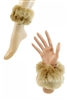 DZ Pack Assorted Color Faux Fur Wrist/Ankle Cuffs