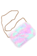 Faux Fur Cuddle Clutch Purse