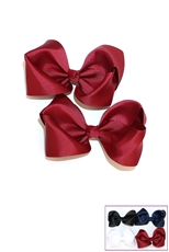 Dozen(2pcs each card) Assorted Color Bow Hair Clip