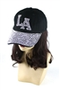 Crystal Embedded LA Hat