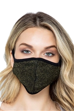 Reusable Glitter Accent Fashion Mask