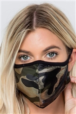 Glitter Accent Camouflage Fashion Mask