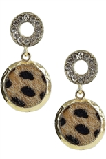 A Dozen Assorted Color Animal Print Earring