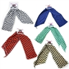 12 Pcs Dozen Lot Bulk Assorted Color 3 in 1 Chevron Zig Zag Mini Scarf, Head Wrap, Band, Belt