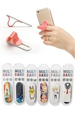 Dozen Assorted Color Multi Band Ringer Ring Phone Stand