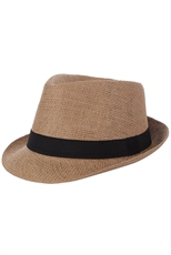 DZ Pack Assorted Color Straw Fedora