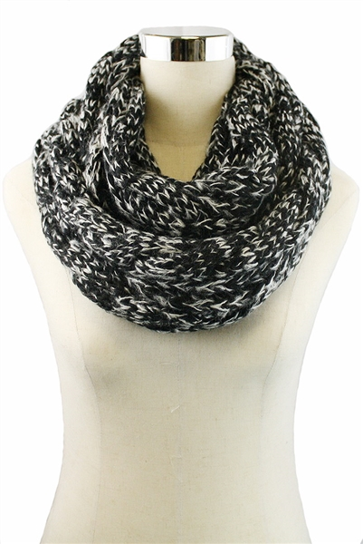 DZ Pack Assorted Color Crochet Knit Infinity Scarves