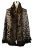 Brown Faux Fur Leopard Pancho
