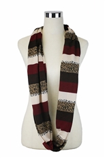 DZ Pack Assorted Color Leopard Infinity Scarves