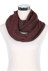 A Dozen Assorted Color Glitter Accent Infinity Scarves