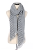 DZ Pack Assorted Color Woven Fringe Scarves