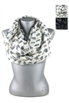 DZ Pack Assorted Color Elephant Print Infinity Scarves