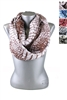 DZ Pack Assorted Color Croc Print Infinity Scarves