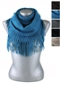 DZ Pack Assorted Color Infinity Scarves with Tassel