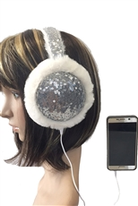 Sequin Fur Headphone Wired Earmuffs