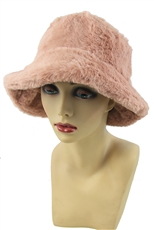 A Half DZ Pack Assorted Color Soft Fur Bucket Hat
