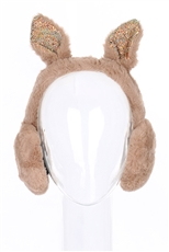 A Dozen Assorted Color Rabbit Ear Soft Fur Earmuffs