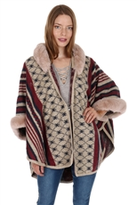 Soft Fur Fashion Poncho