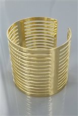 A Dozen Metallic Cuff Bangle