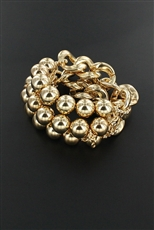 Chain Link Fashion Stretch Bracelet