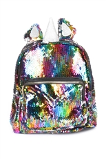 Unicorn Theme Mermaid Sequin Backpack