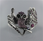 Rhinestone Owl Bangle