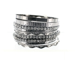 11 Layered Rhinestone Bangle