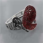 Rhinestone Butterfly Bangle