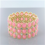 Acrylic Gems Stretch Bangle